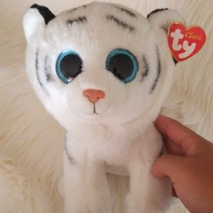 TY Thundra White Tiger Plush
